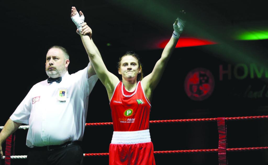 Michaela Walsh celebrates winning the 51KG title Mandatory Credit ©INPHO/Donall Farmer