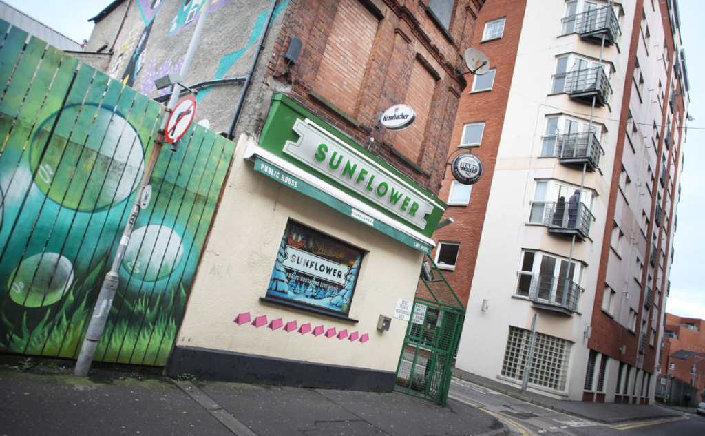 The popular Sunflower bar in Union Street was slated for demolition as part of the ambitious project