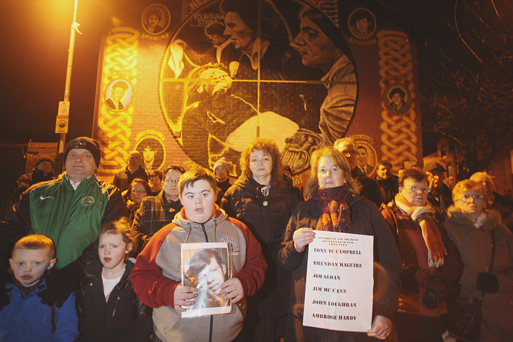 New Lodge residents were joined by Sinn Féin MLA Carál Ní Chuilín on New Lodge Road on Wednesday night (February 3) to commemorate the six men murdered by the British Army in 1973