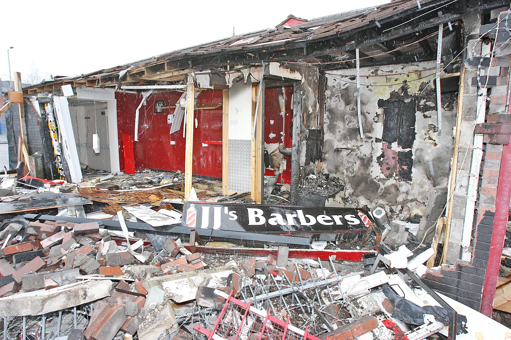 A2b cabs jj barbers shop destroyed 1114mj16