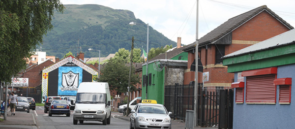 The attack took place in the Flax Street area of Ardoyne