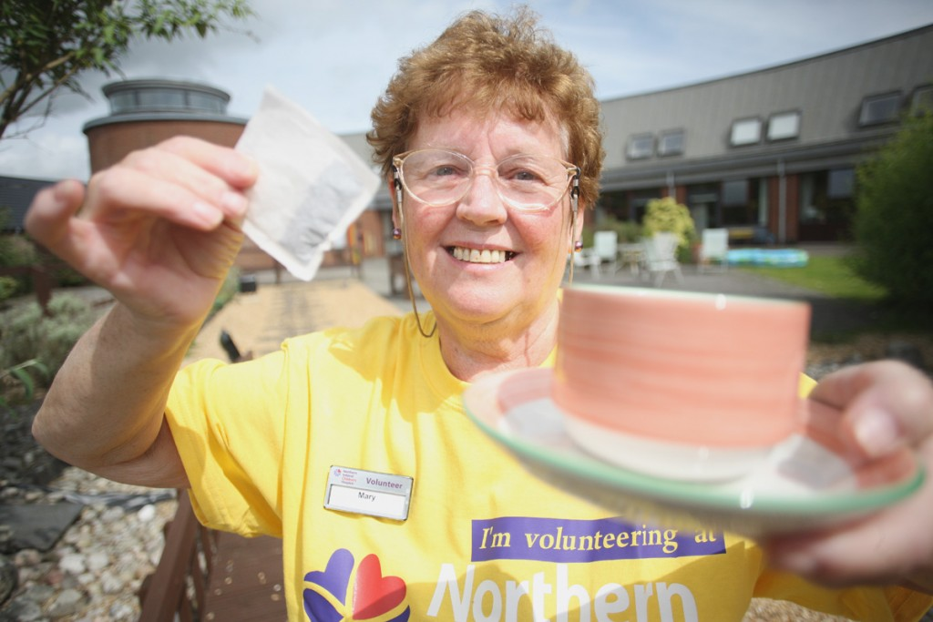 Children's Hospice volunteer Mary Devlin has been giving out tea and comfort for years