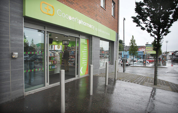 The incident took place at Cooper's Pharmacy on the Andersonstown Road