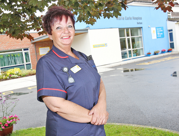 Marie Curie Hospice Lead Nurse Cindy Anderson says her work is all about helping people have the best quality of life possible