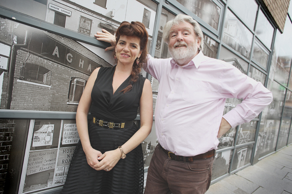 GREAT WRITING:Looking forward to the opening night are Martin Lynch with Maria Connolly