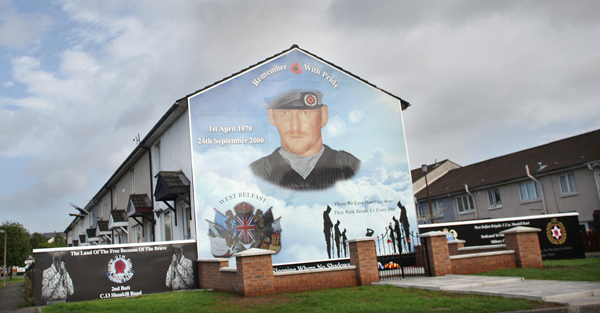 A tribute to UDA's Stephen McKeag in the Shankill