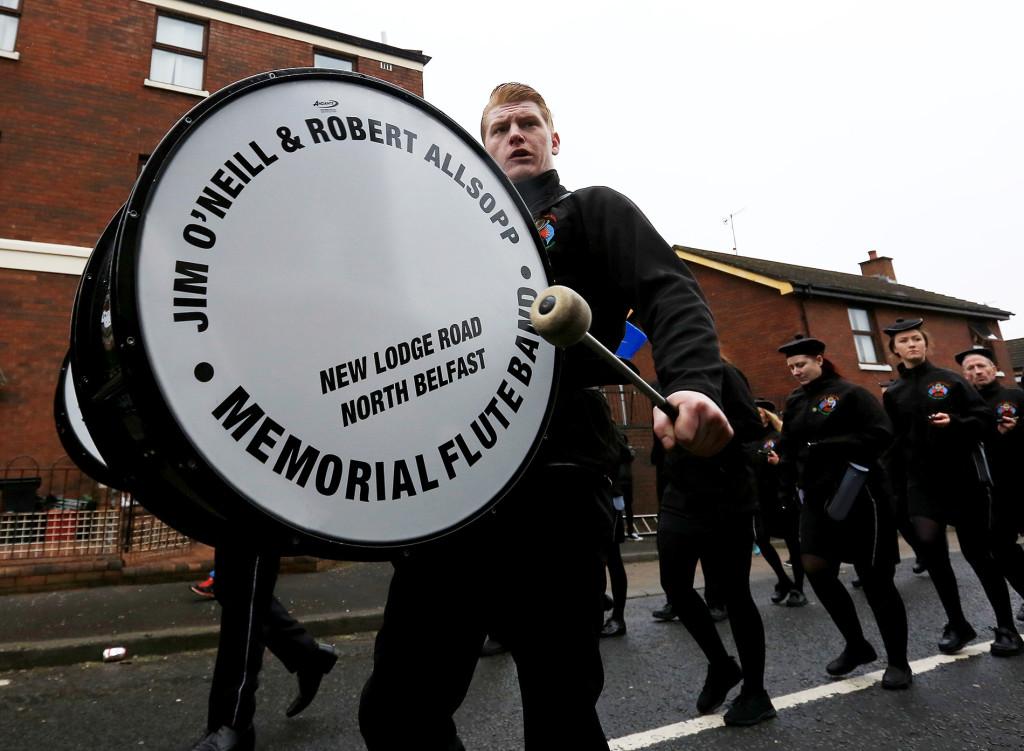 The Jim O'Neill & Robert Allsopp band parade along the New Lodge Road