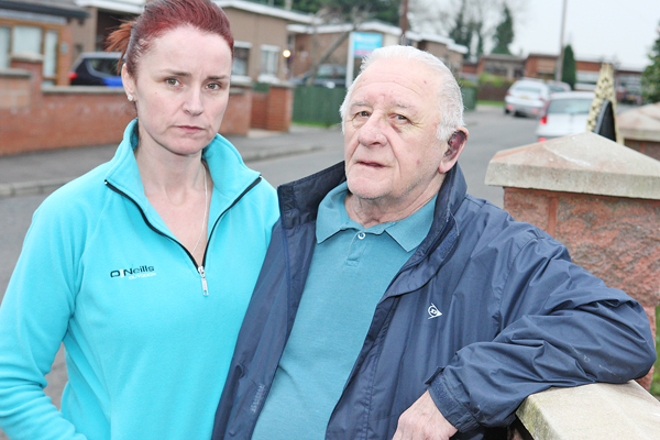 Assault victim Charlie Hill with daughter Moya