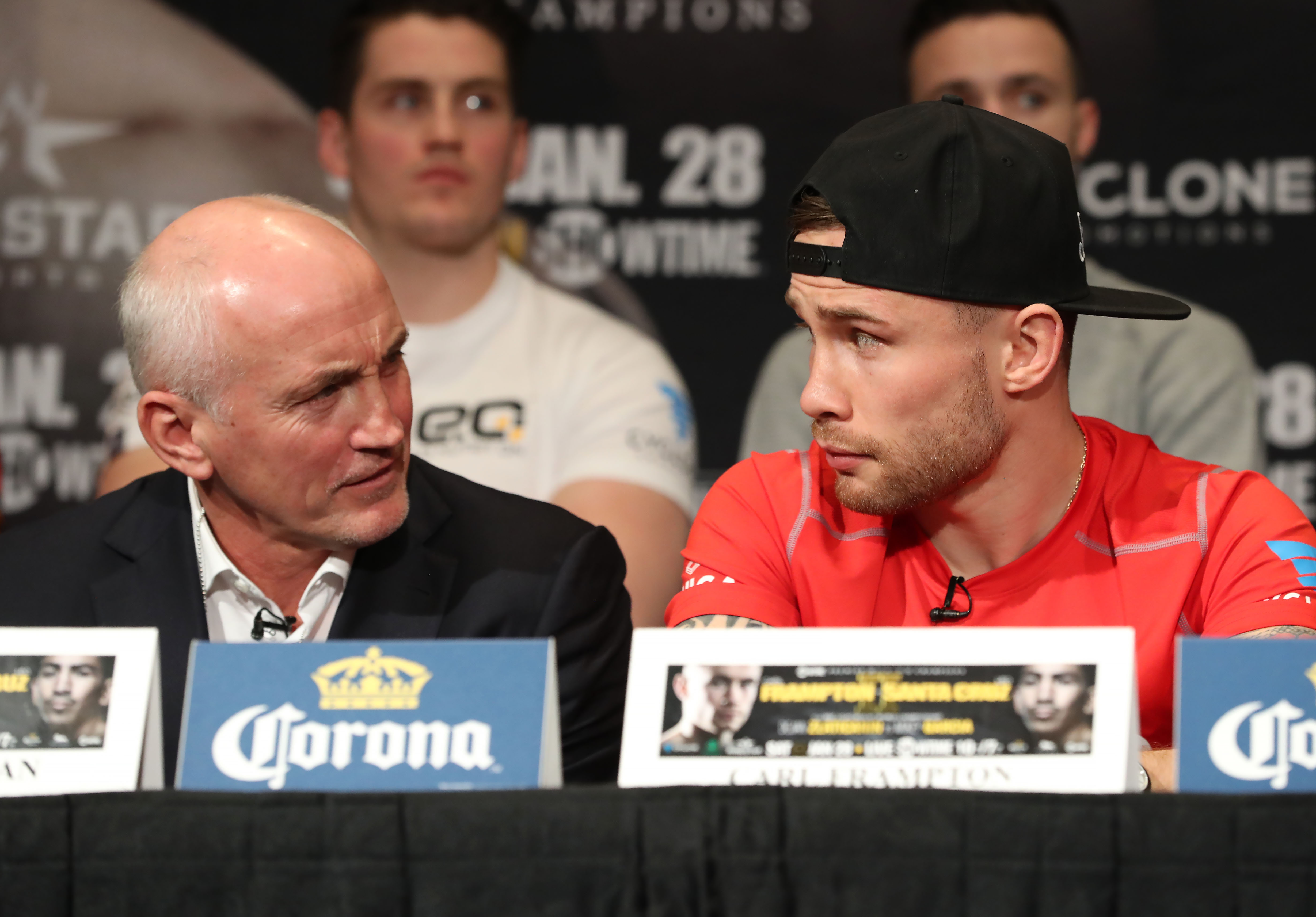 Barry McGuigan and Carl Frampton at Thursday\'s press conference  Photo William Cherry/Presseye