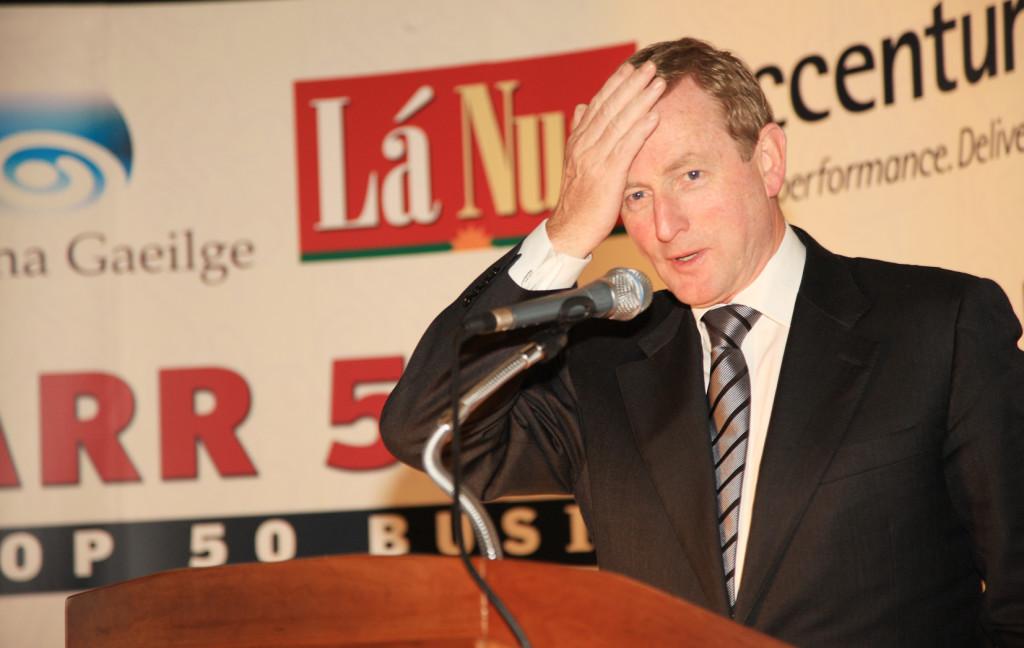 SHORT-SIGHTED: Taoiseach Enda Kenny is the talks junior partner