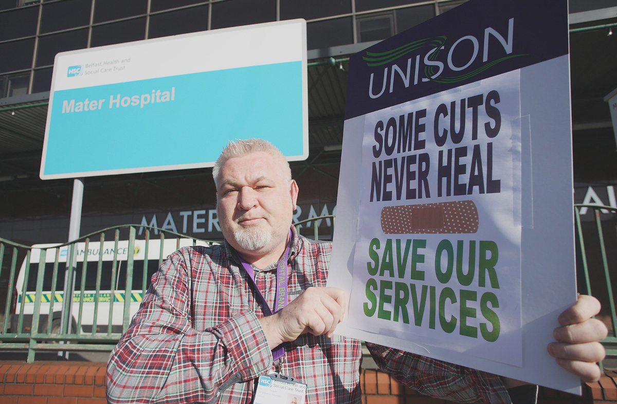 Eoin Stewart, Branch Secretary of Mater Hospital Unison branch, says there was no consultation on the proposed plans