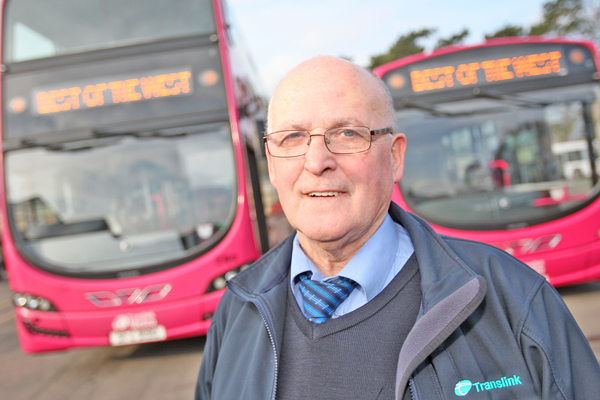 POPULAR:Translink bus driver Kevin Maguire who is retiring in April