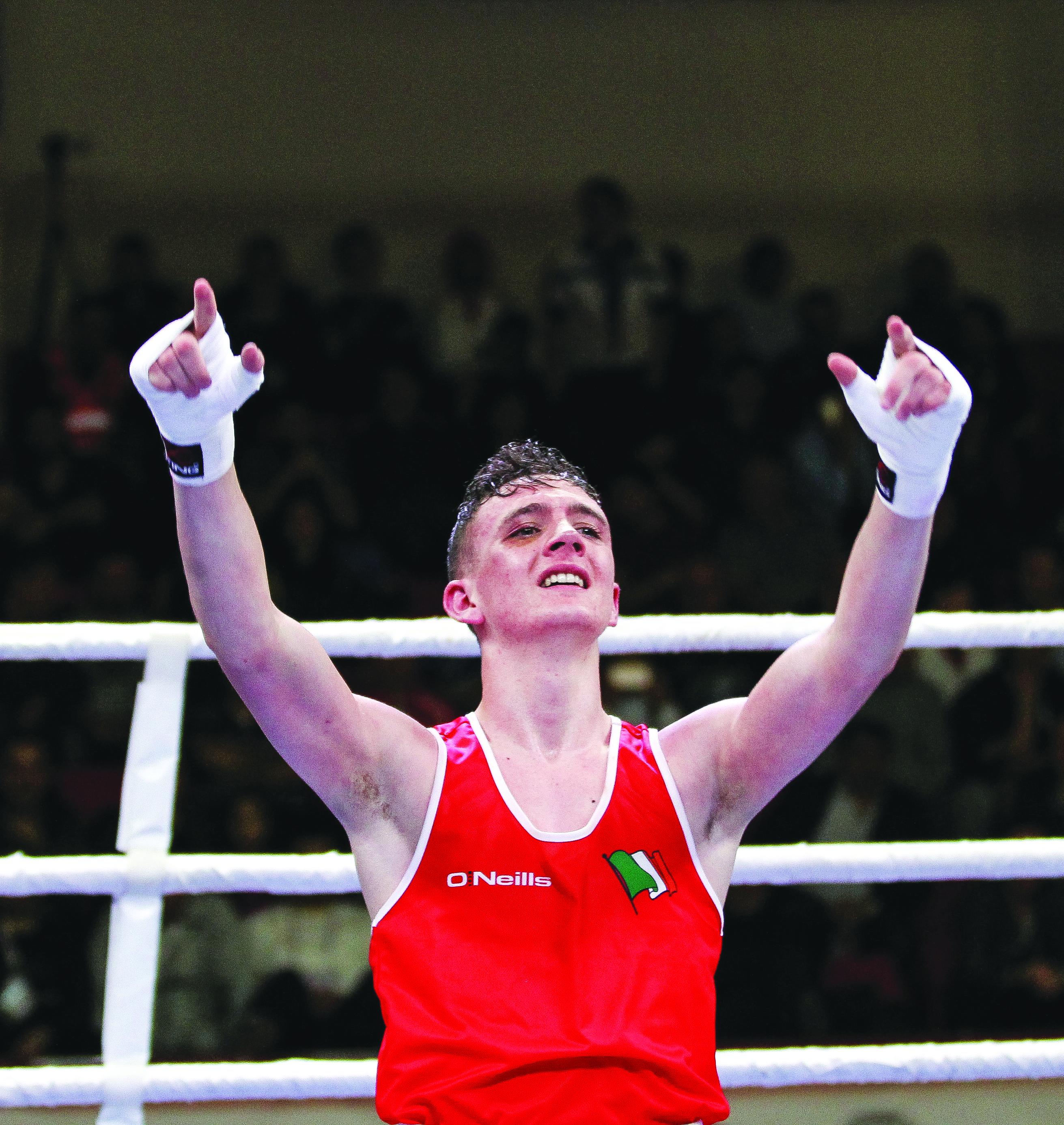 Brendan Irvine was celebrating after Friday's Elite final win in Dublin