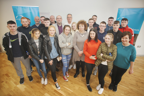 ENGAGEMENT: Young people from Ardoyne Youth Club attended the open forum with community leaders at the Houben Centre