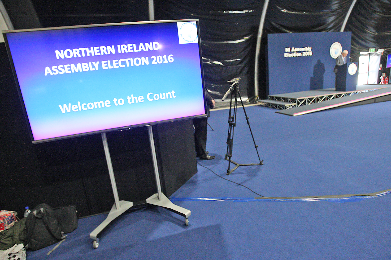 NI Assembly Election 2016 count at the Titanic Exhibition Centre.