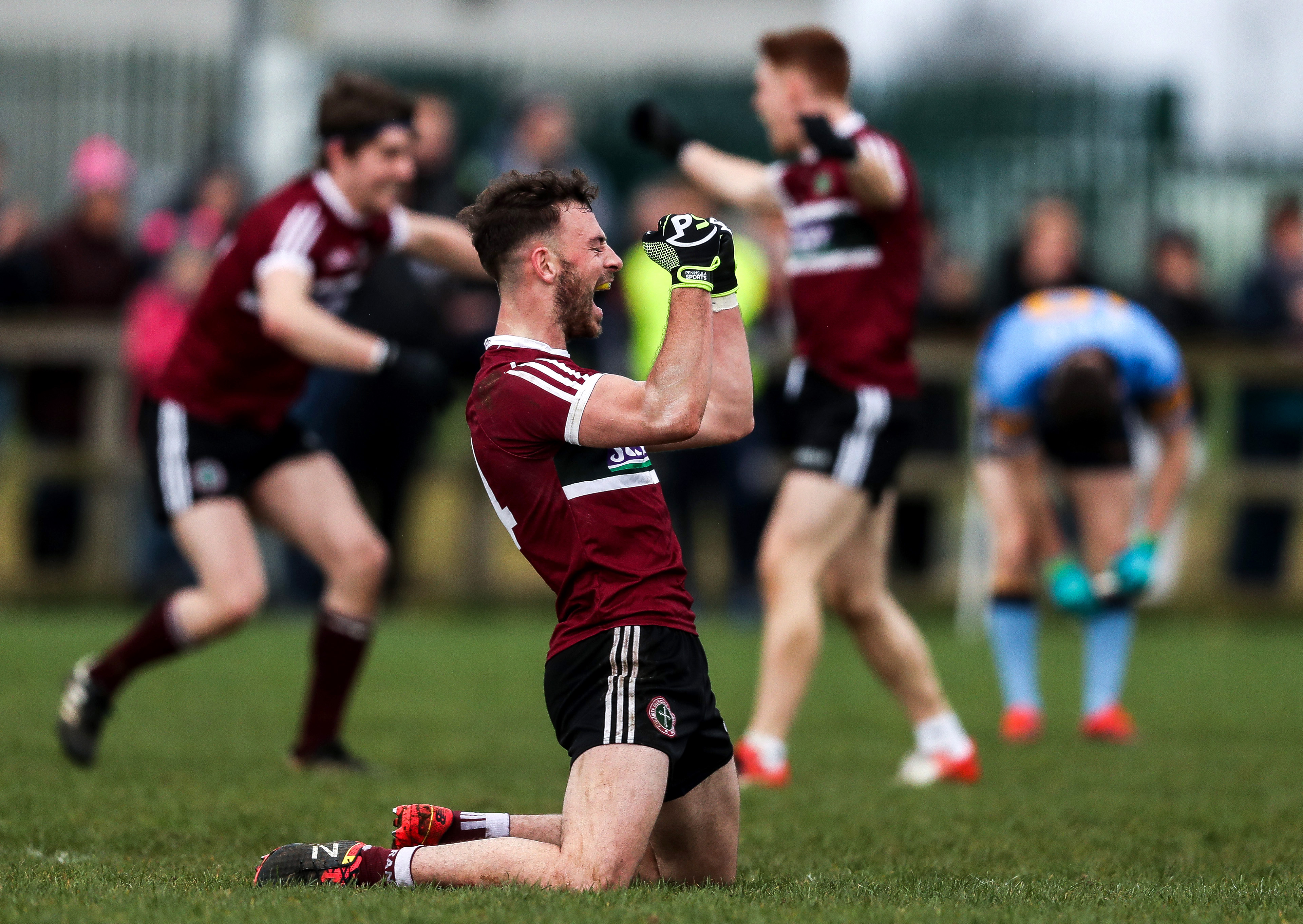Matthew Fitzpatrick  celebrates after St Mary\'s defeat defending champions UCD in Saturday's Sigerson Cup final
