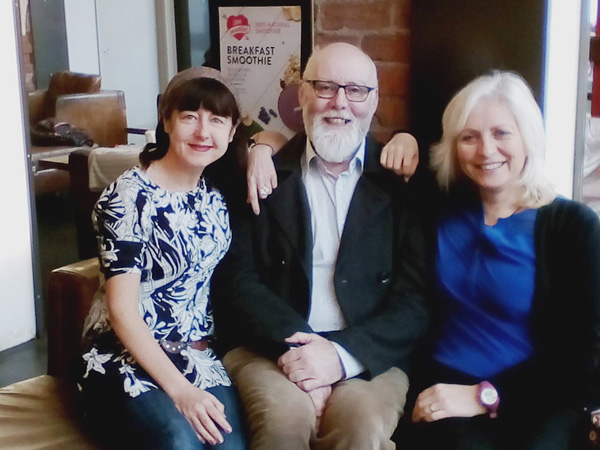 EXHIBITION: Lise McGreevy with Belfast producer Jim Johnston and composer Marie Therese Davis who are involved in the 'Abandoned; Not Forgotten' project