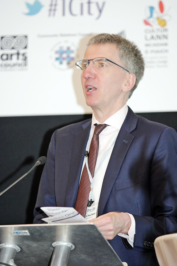 Máirtín Ó Muilleoir says even English-speaking candidates find the exam difficult