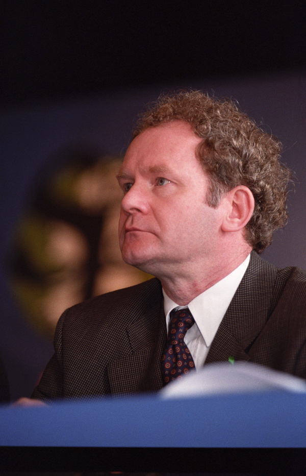 INSPIRATION: Martin McGuinness in West Belfast in 1997