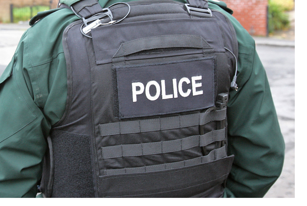 PSNI officers swooped before the gun could be delivered. File picture.