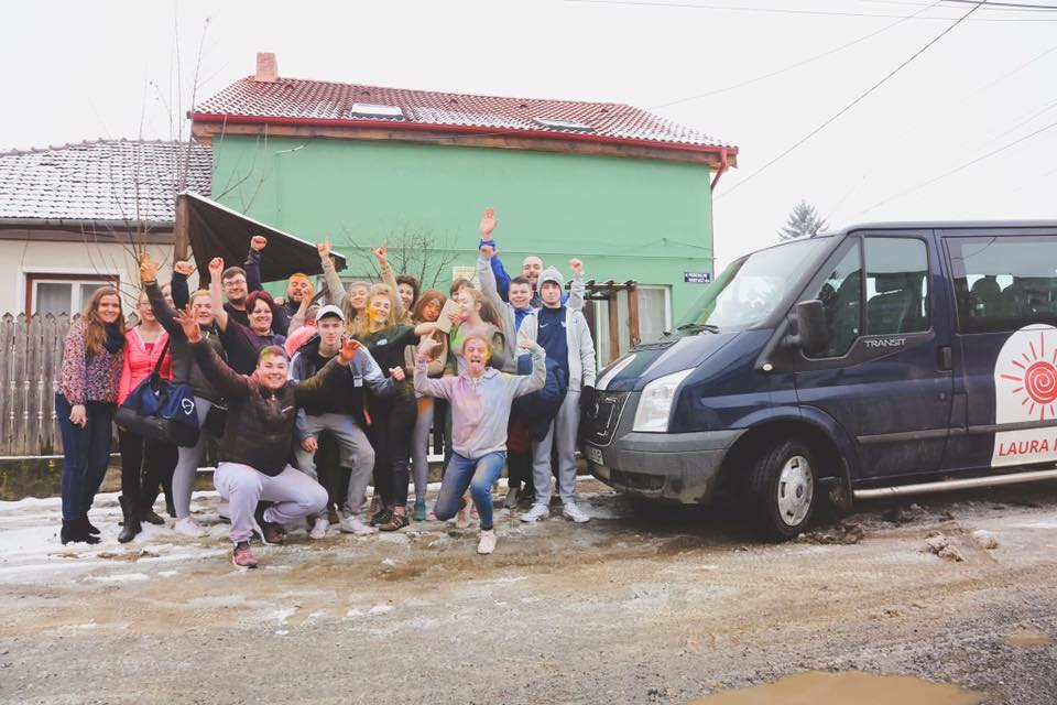 POSITIVE:16 staff and young people were involved in this year's Project Romania, as part of the New Lodge Youth Project