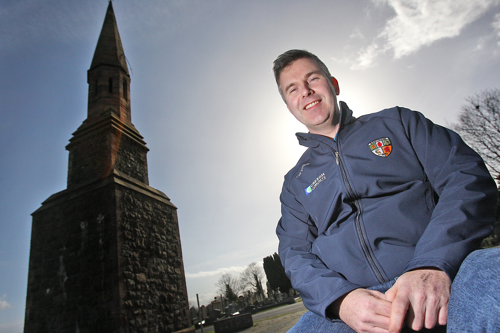 Councillor Stevie Corr at Belfast City Cemetery
