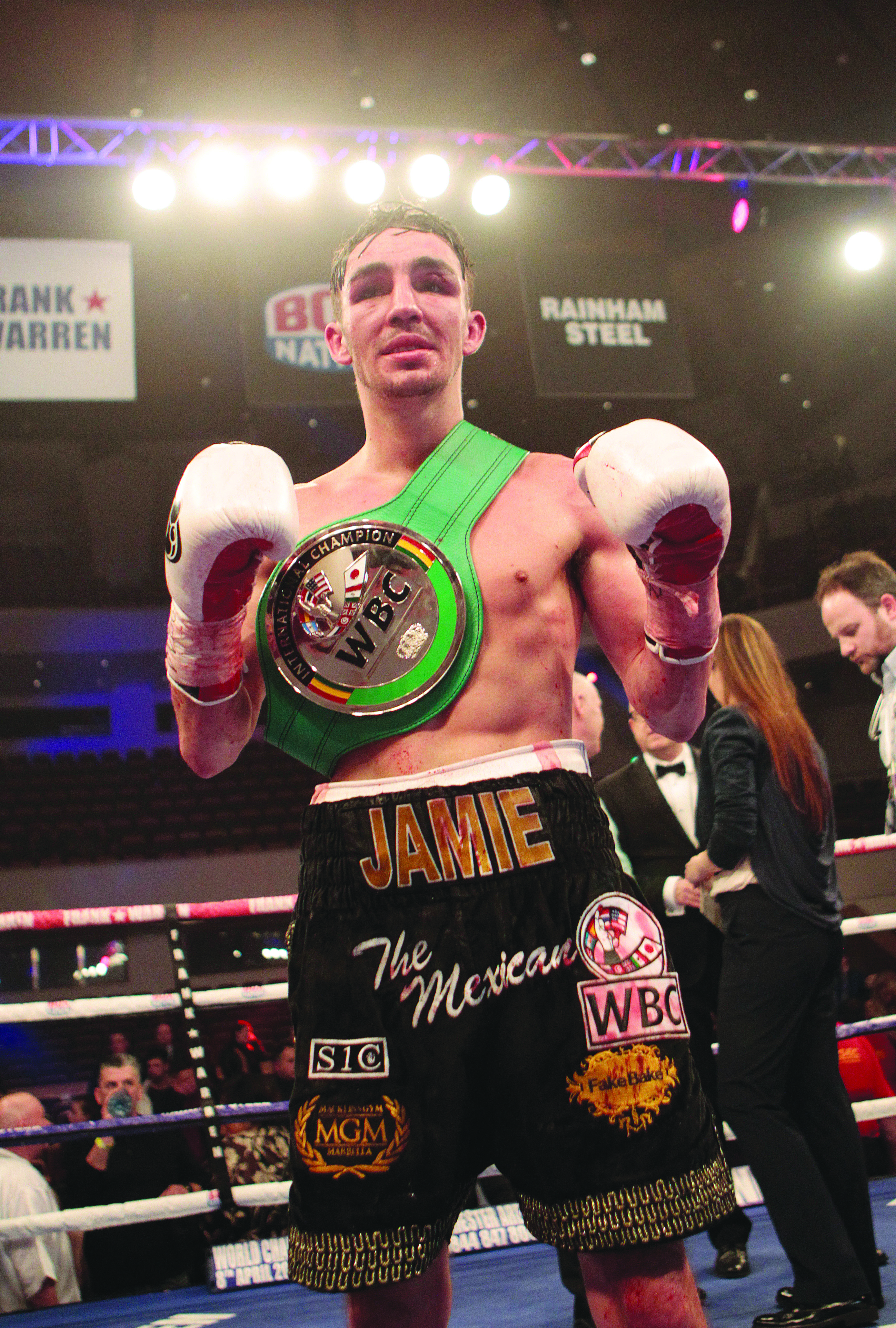 Jamie Conlan had to pick himself off the canvas  before going on to take a split decision victory over Yarder Cardoza