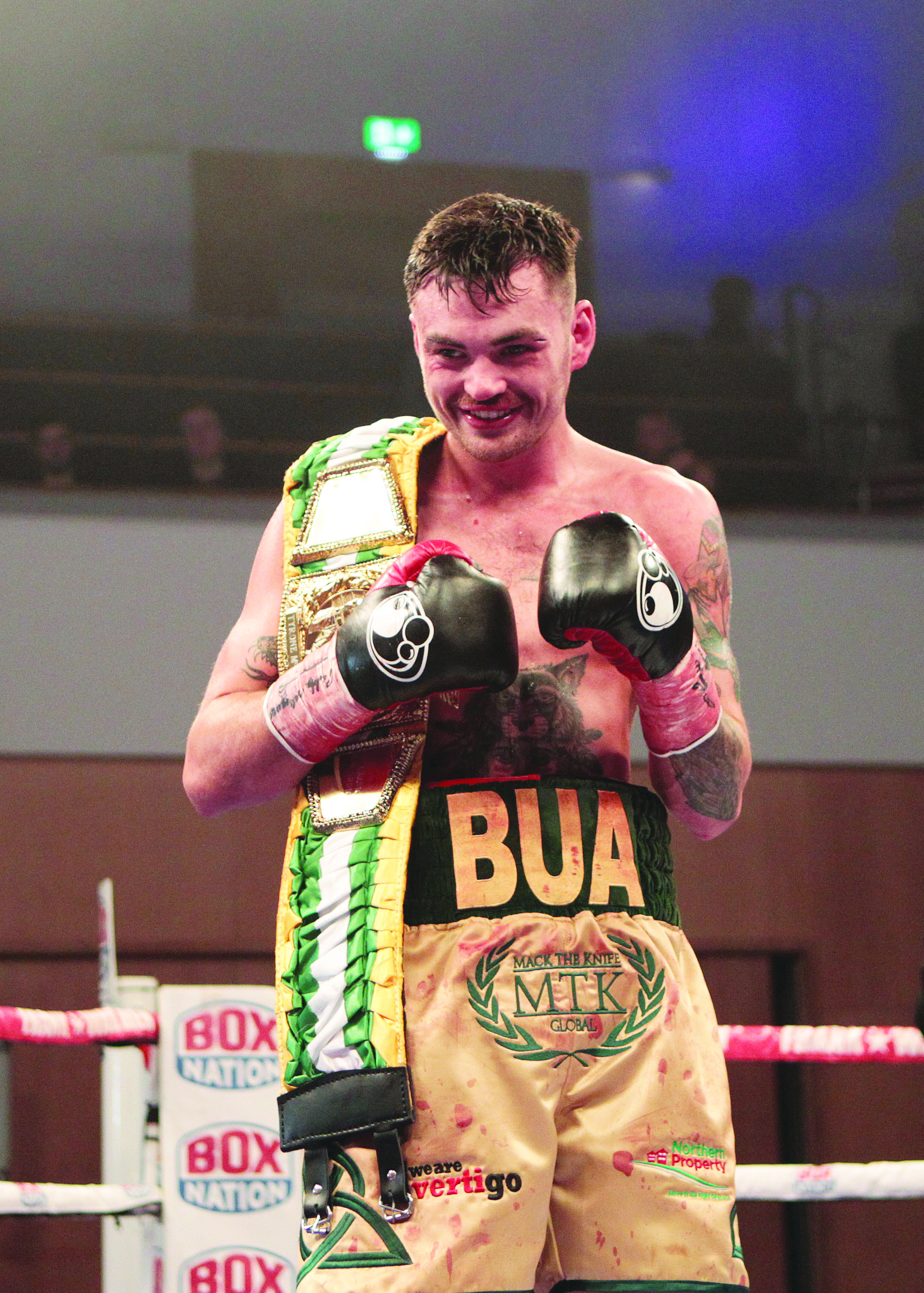 Tyrone McKenna stopped Jake Hanney in the sixth round to defend his BUICeltic Nations title