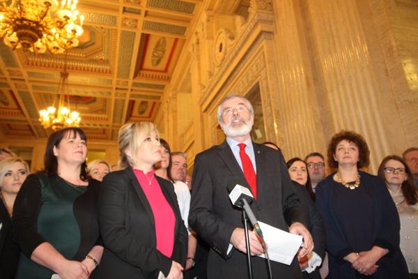 Sinn Féin left the meeting with James Brokenshire early