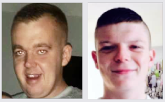 VICTIMS: Christopher Lavery (above left) died two weeks ago while Caomhan Lennon (above right) died on Mother's Day two years ago