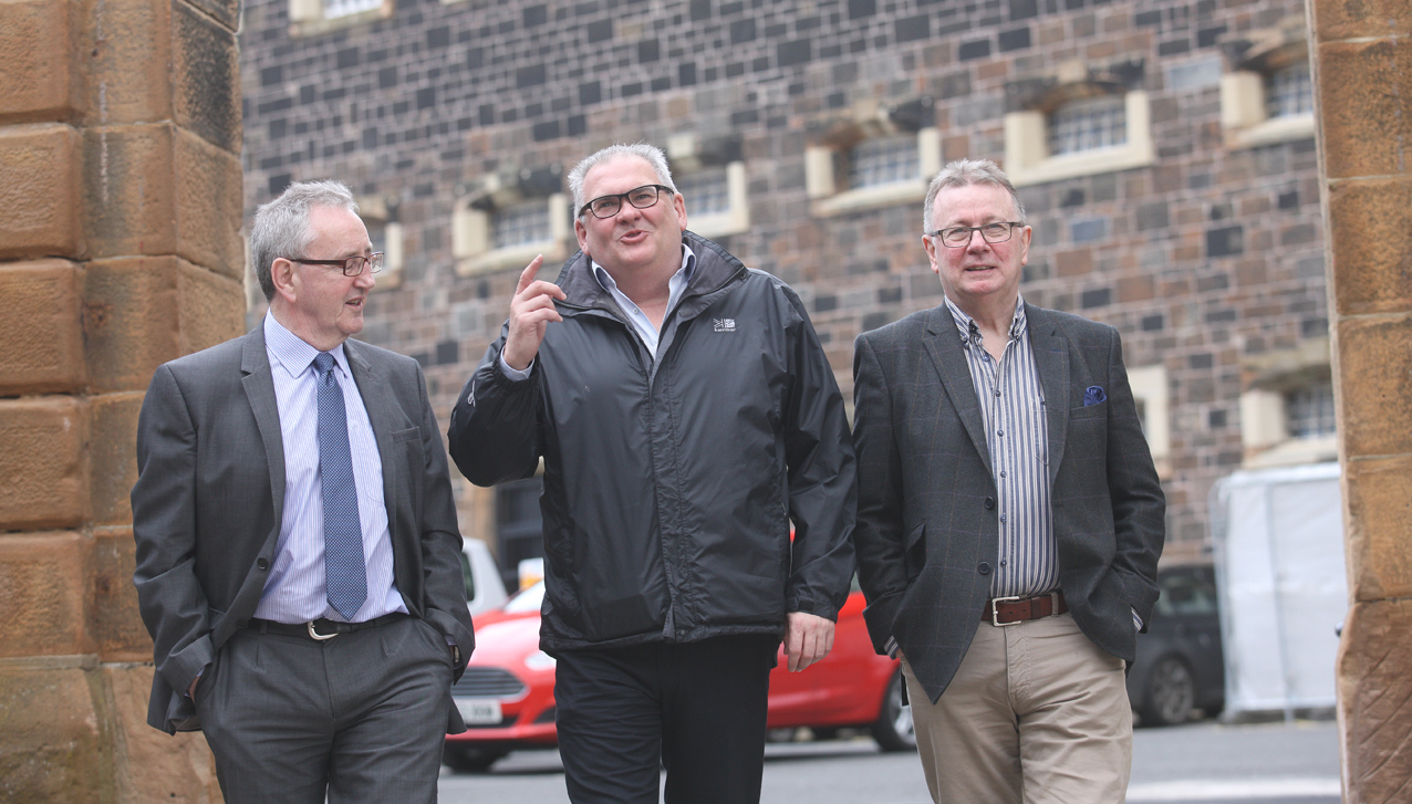 Unfinished Business: Michael Culbert, Professor Pete Shirlow and Tom Roberts at Crumlin Road Gaol