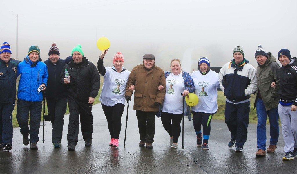 A damp day on Black Mountain didn't put off the McKiernans who pulled out all the stops in memory of their late and much-loved mother Maureen