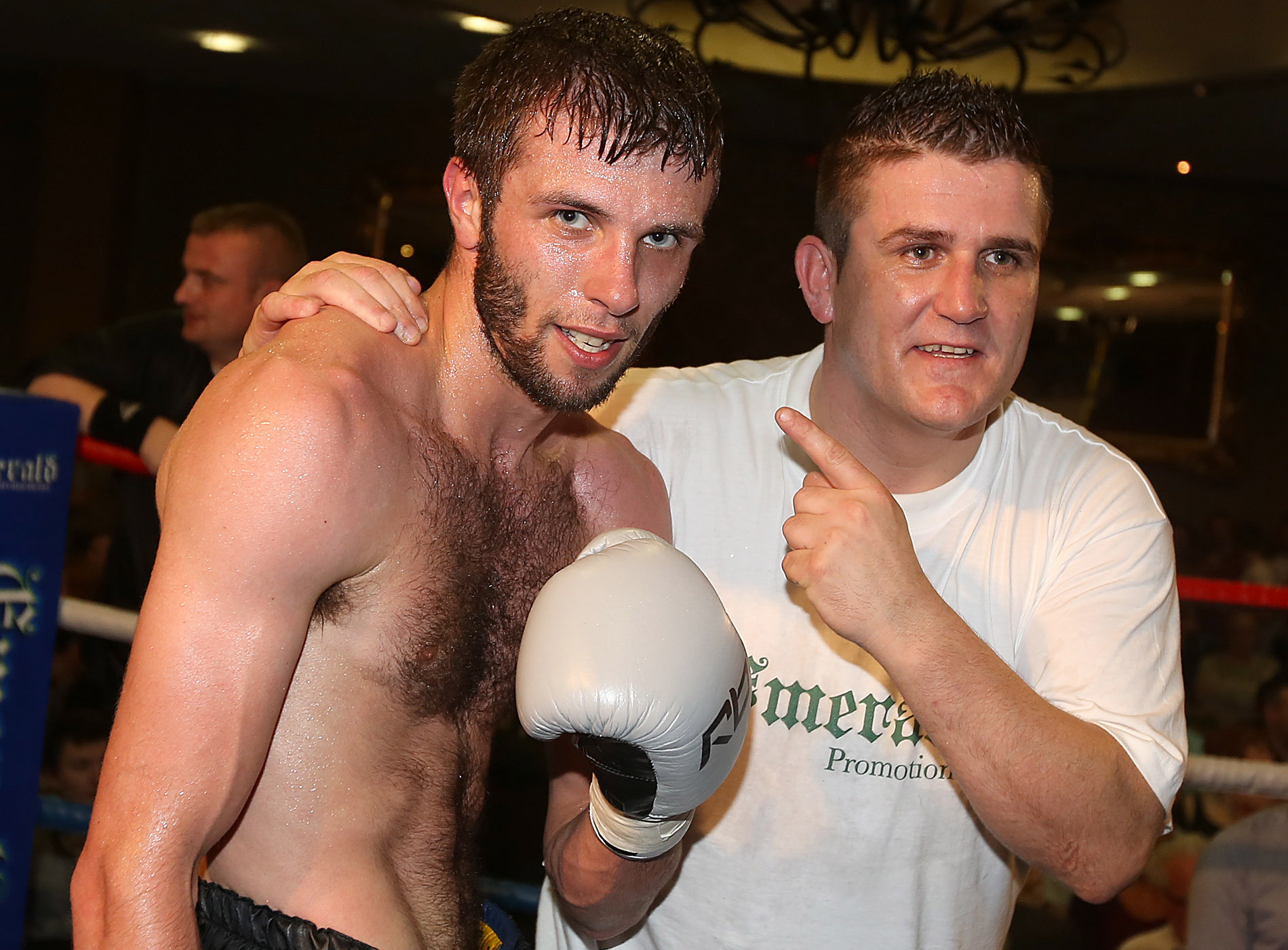 Anthony Cacace is back working with his old training team of Sean (pictured) and Paul McCullagh