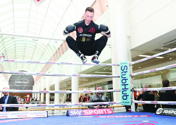 FLYINGHIGH:Ryan Burnett said he is enjoying the build-up to his world title shot on June 10 at Monday's public workout