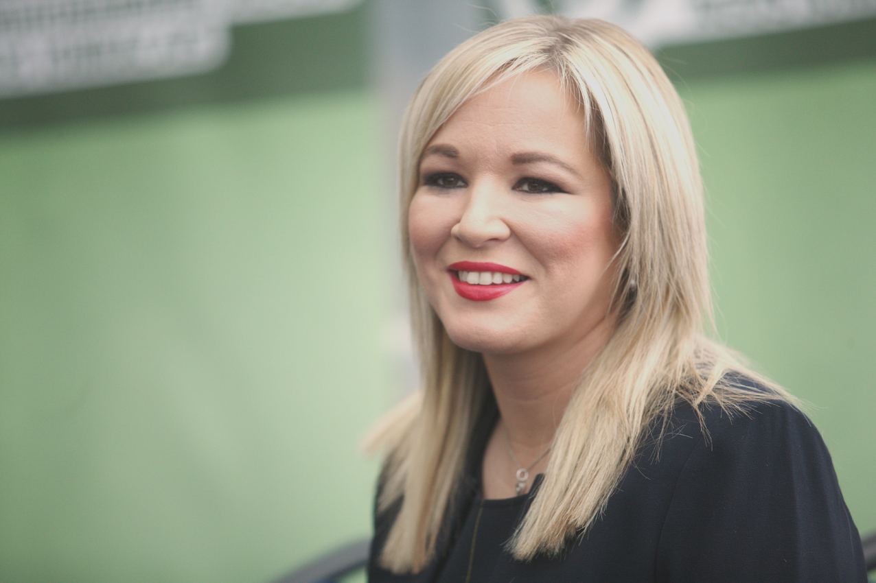 Sinn Féin leader in the North Michelle O'Neill expresses sympathy