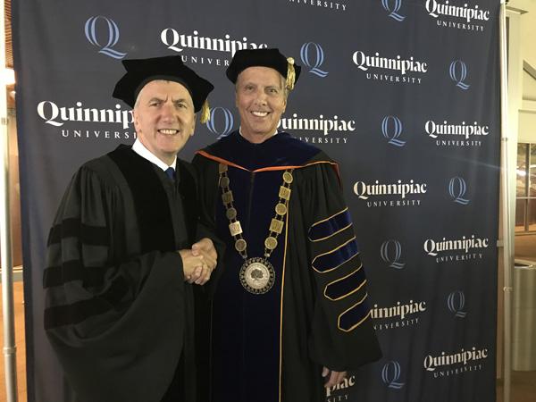 Máirtín Ó Muilleoir With John Lahey President Quinnipiac University