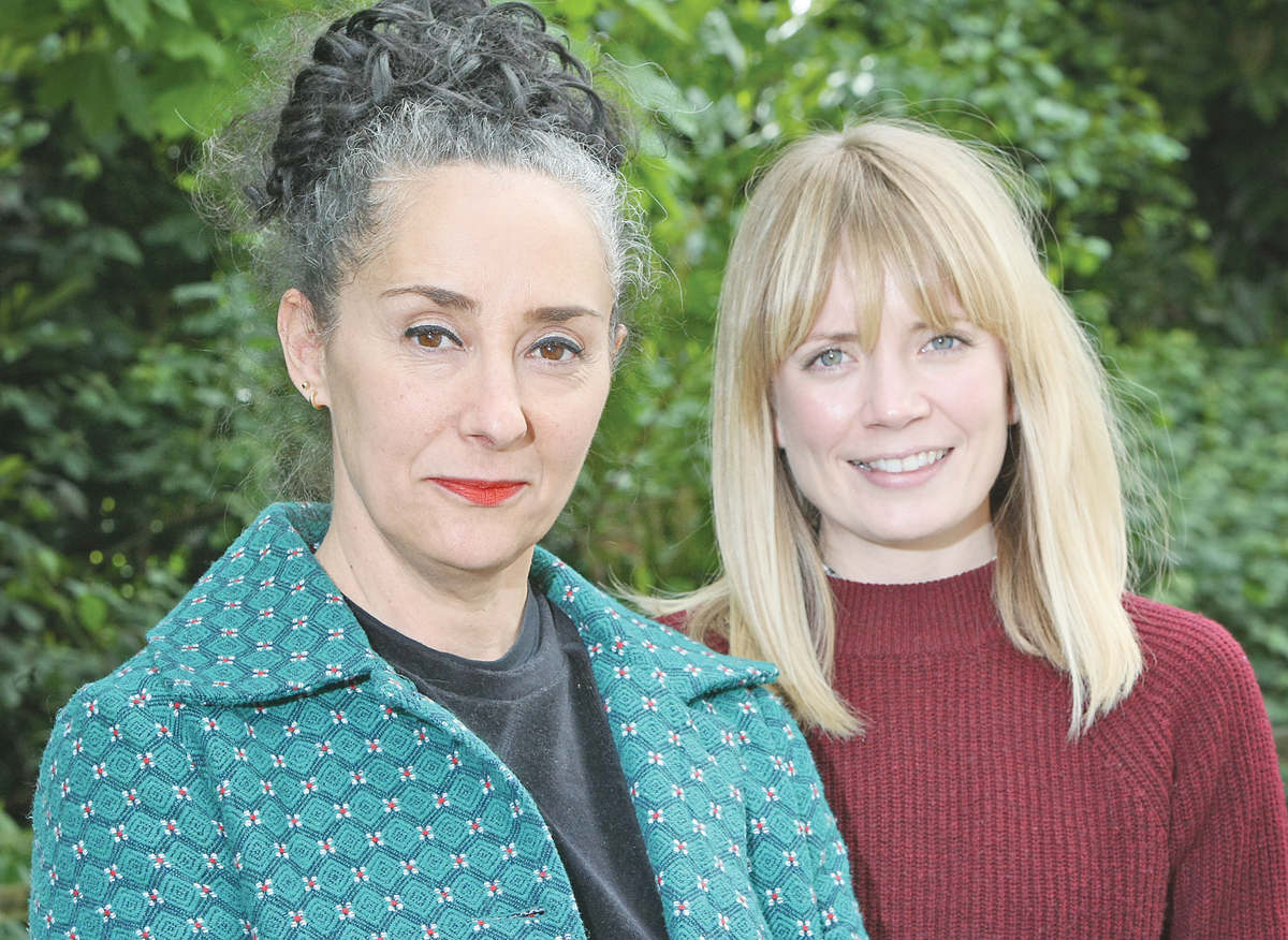 IN BELFAST:Vanessa Engle, producer and director, with assistant producer Cheryl Hockey