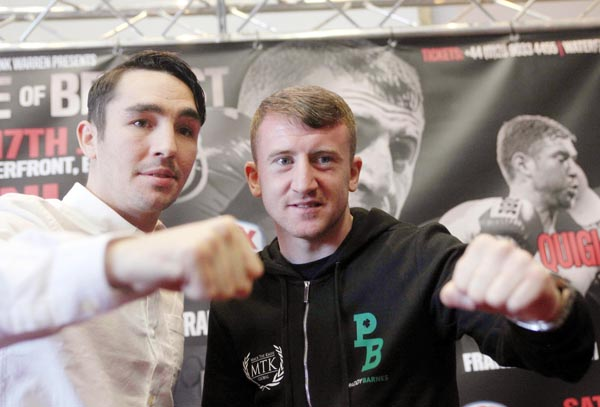 Jamie Conlan and Paddy Barnes at Tuesday\'s press conference\n©INPHO/Presseye/Jonathan Porter