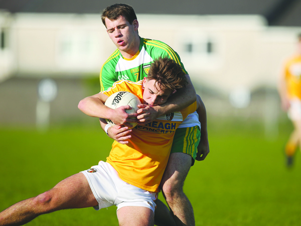 Eoghan McCabe is one of several Antrim players who lined out against Donegal last year at Corrigan Park when the Saffrons went close to upsetting the eventual Ulster champions