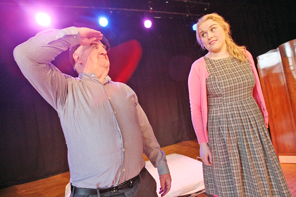 Seán Mac Seáin and Edel Ni Churraoin of Aisling Ghéar in rehearsals for an upcoming festival production