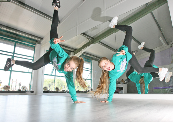 Meghan Sewell and Holly Sullivan of the hip-hop dance group, Prime Intensity Dance Crew were picked to perform at the Justin Beiber concert in Dublin.