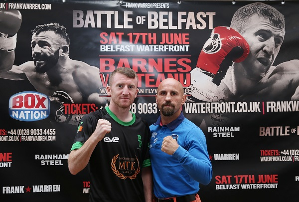 Paddy Barnes and  Silvio Olteanu meet for the WBO European flyweight title at the Waterfront Hall tomorrow\nPicture by Brian Little/PressEye