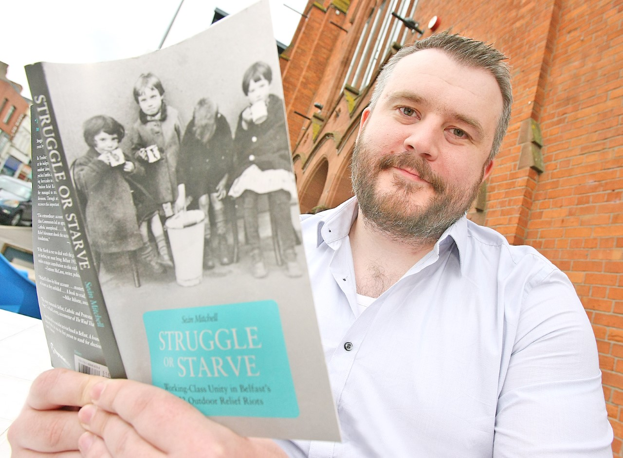 INSIGHT: Seán Mitchell with his newly published book, Struggle or Starve