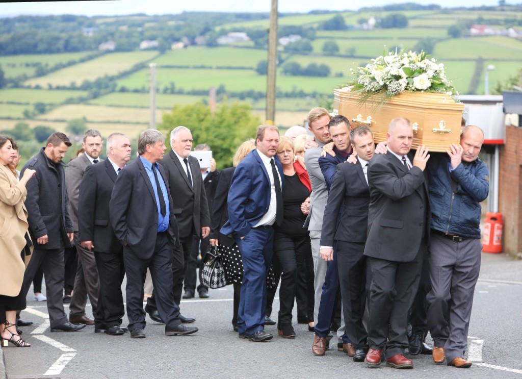 Hundreds of mourners turned out for Dean's funeral yesterday