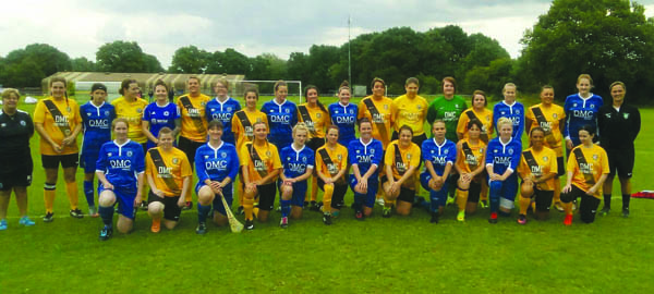 St James' Swifts senior ladies team with their Billericay counterparts