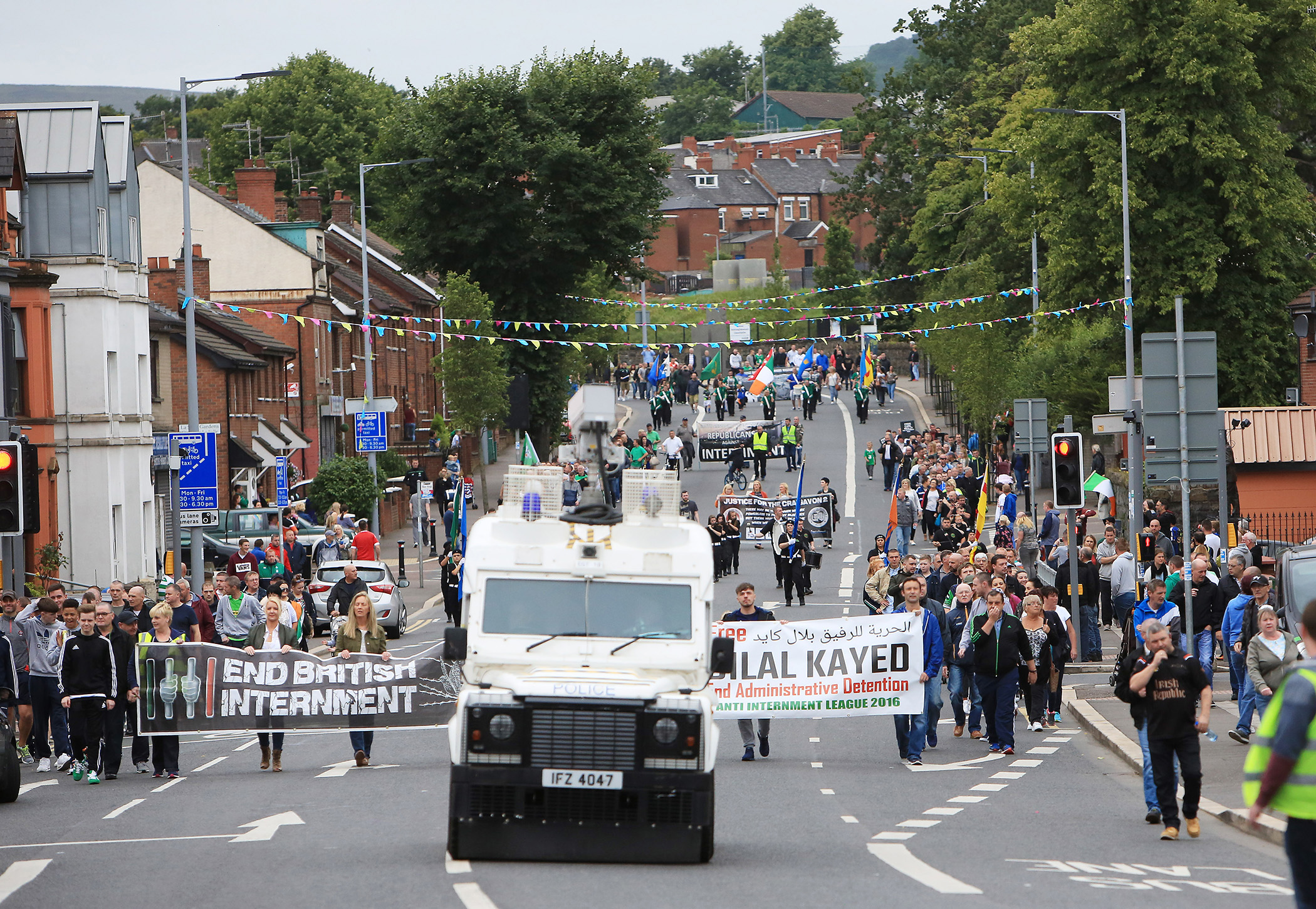 This year\'s nti-internment parade will return to North Belfast but is to be restricted 0708JC16