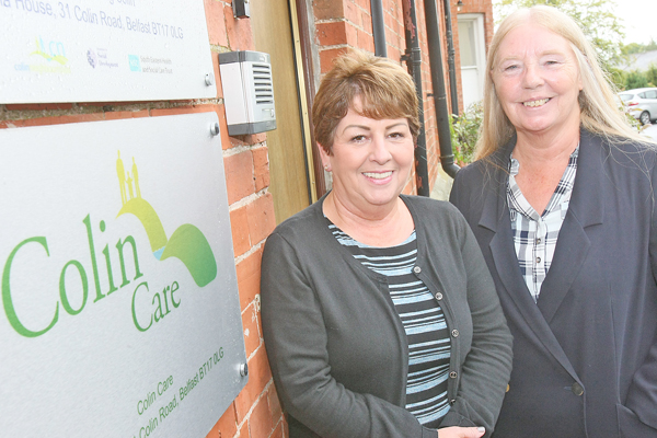 Phyllis McQuillan of Colin Care with Annie Armstrong of the Colin Neighbourhood Partnership.