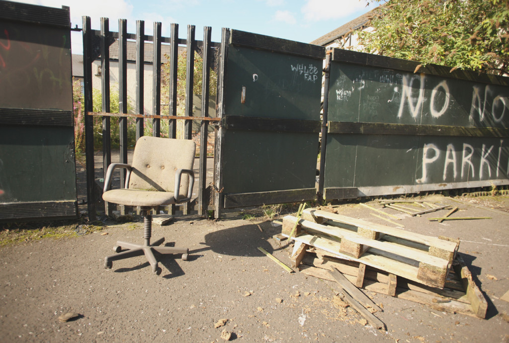 ANGER: Fly-tipping on Great George's Street near the old Molly Maguire's bar