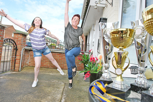 Noreen Montgomery with her dance champion daughter Chloe