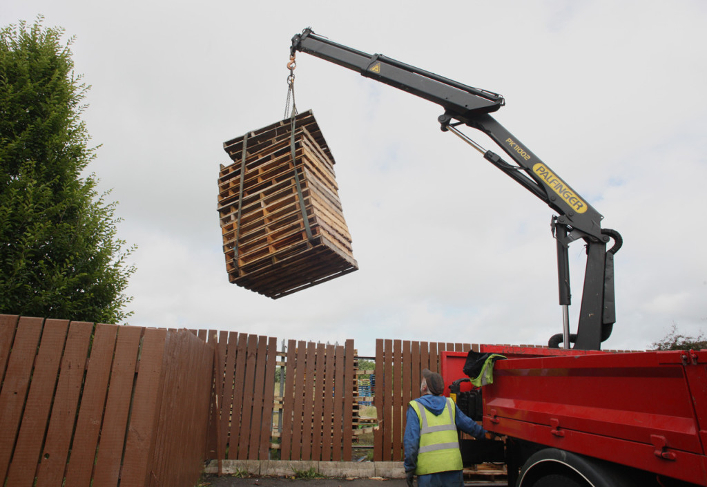 RETRIEVED:The local firm taking their pallets back